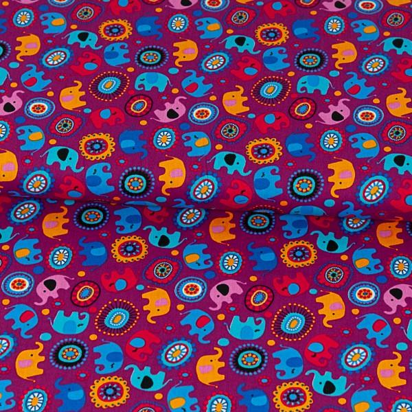 BW1651_718_Baumwolldruck_Elefant_kleine_Retro_Blume_dunkel_pink_1