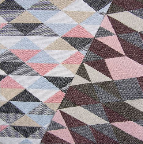 Gobelin Stoff große Dreiecke im Quadrat Innenraum-Ausstattung Taschen Vorhänge
