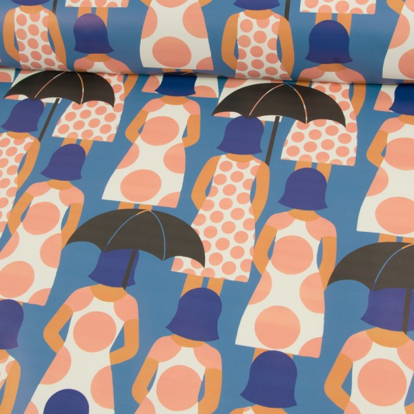 ZZ1147_528_Regenjackenstoff_Regenschirm_mit_Frau_jeansblau_1