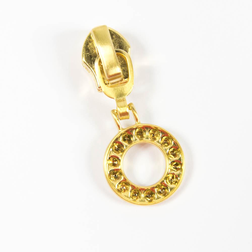 Zipper gold für 6,5mm Raupenbreite
